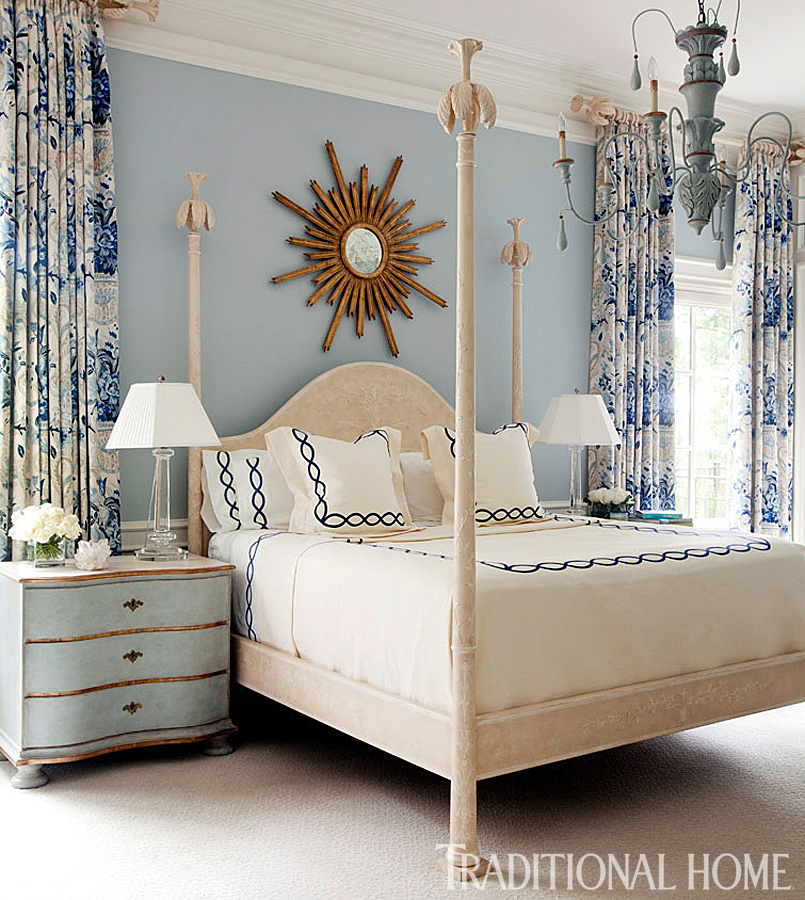 Beautiful blue bedrooms traditional home for Traditional home bedrooms