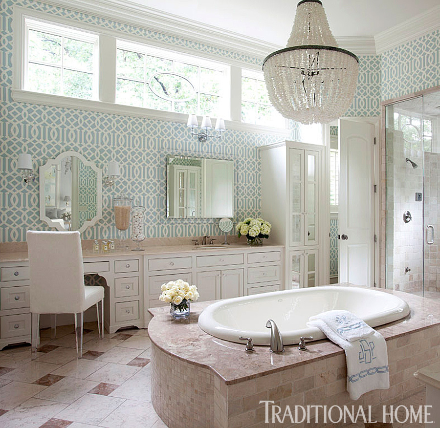 Arkansas home with a stylish palette traditional home for Wallpaper traditional home