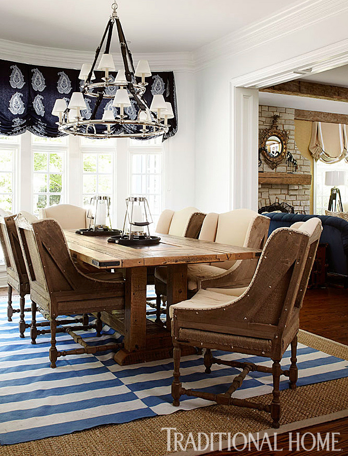 Traditional Home Dining Rooms.  ENLARGE Werner Straube Breakfast Room New Home in Navy and Indigo Traditional