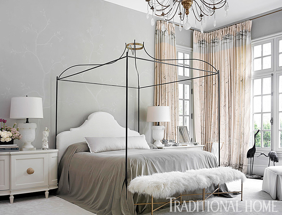 Gorgeous GrayandWhite Bedrooms Traditional Home Best Gray Master Bedroom