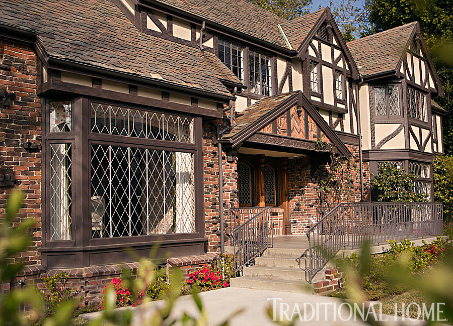 Beautifully updated tudor style home traditional home for Traditional house style
