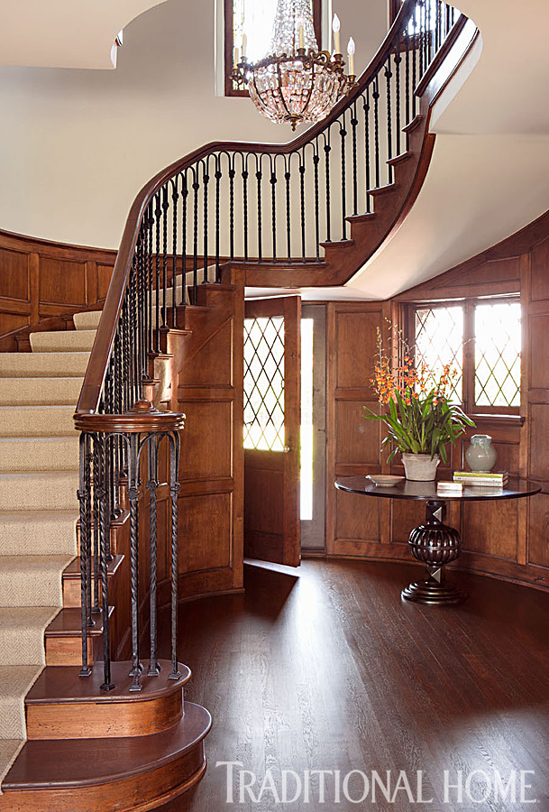 Grand Foyer In English : Beautifully updated tudor style home traditional