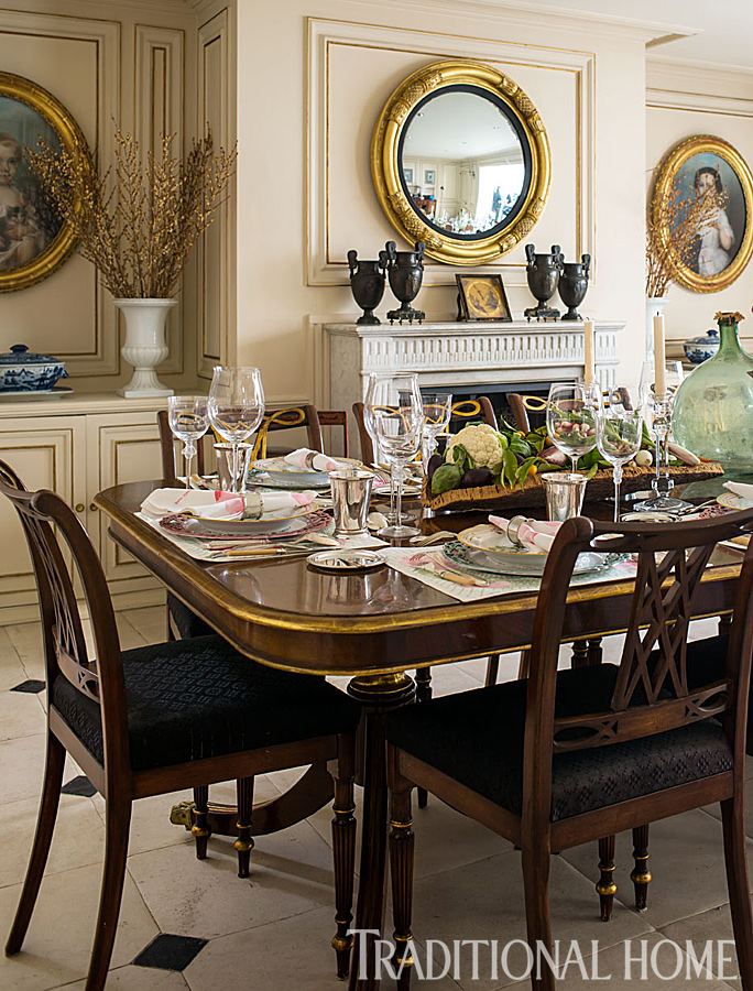 Saint Tropez Inspired Dinner Traditional Home