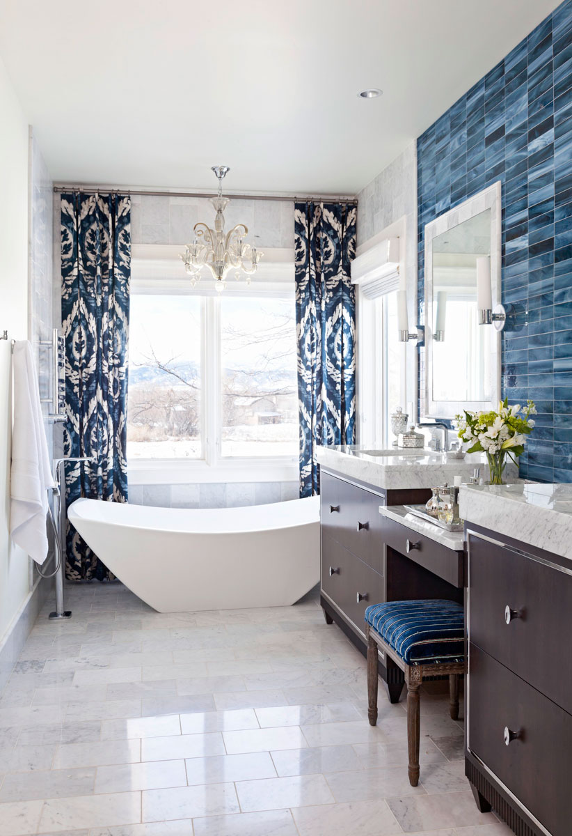 Bathroom Tile Ideas Blue And White decorating ideas for blue-and-white bathrooms | traditional home