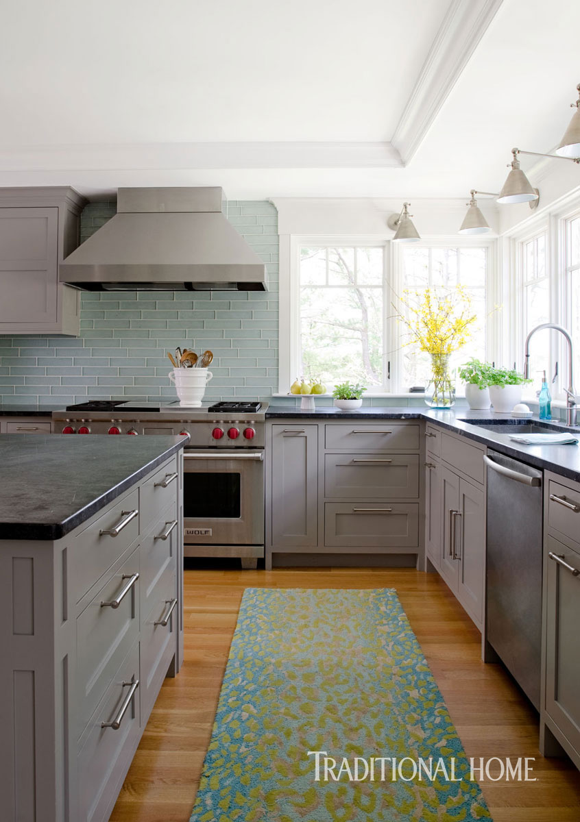 Coastal Kitchen Coastal Kitchen With A Bright Bump Out Traditional Home