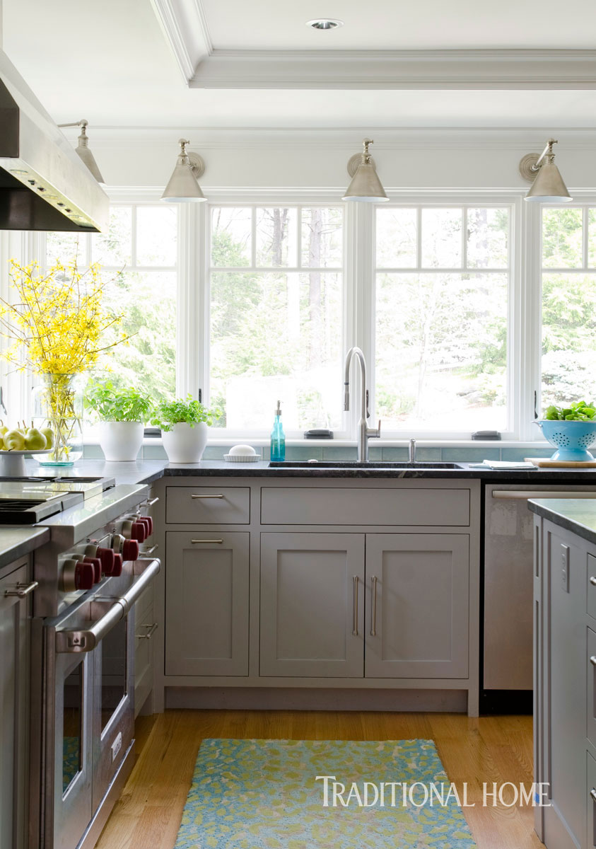 Coastal Kitchen with a Bright Bump-Out | Traditional Home