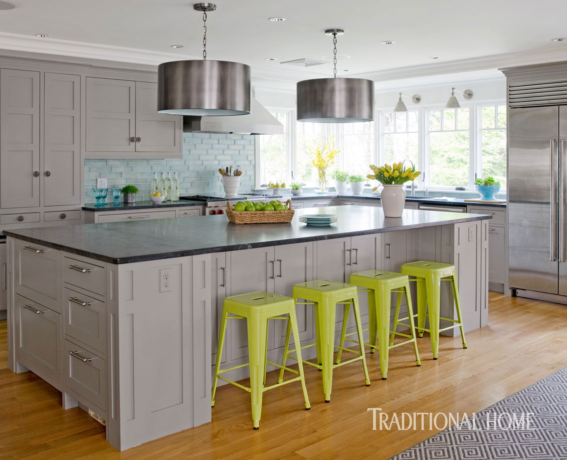 Coastal Kitchen With A Bright Bump-Out