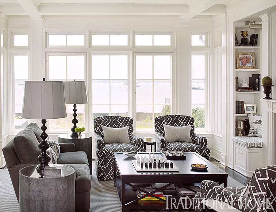 stylish home on long island sound traditional home. Black Bedroom Furniture Sets. Home Design Ideas