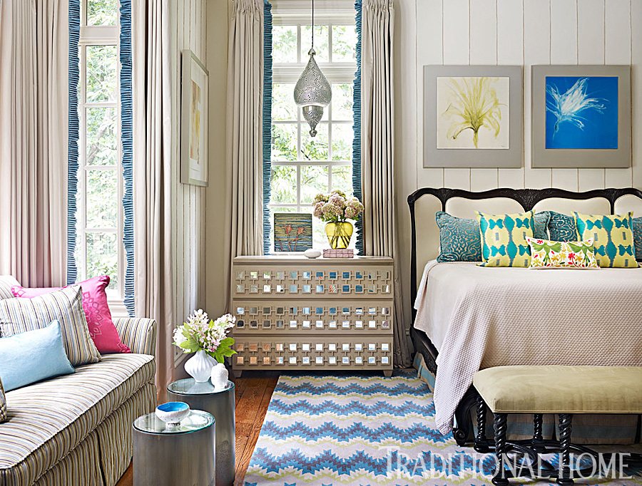 Traditional Home Interiors atlanta home with vibrant interiors | traditional home