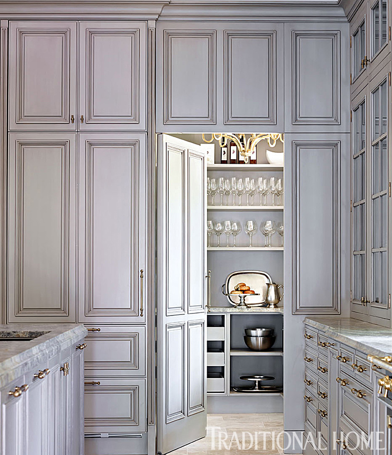 Glamorous Gray Showhouse Kitchen | Traditional Home - photo#22