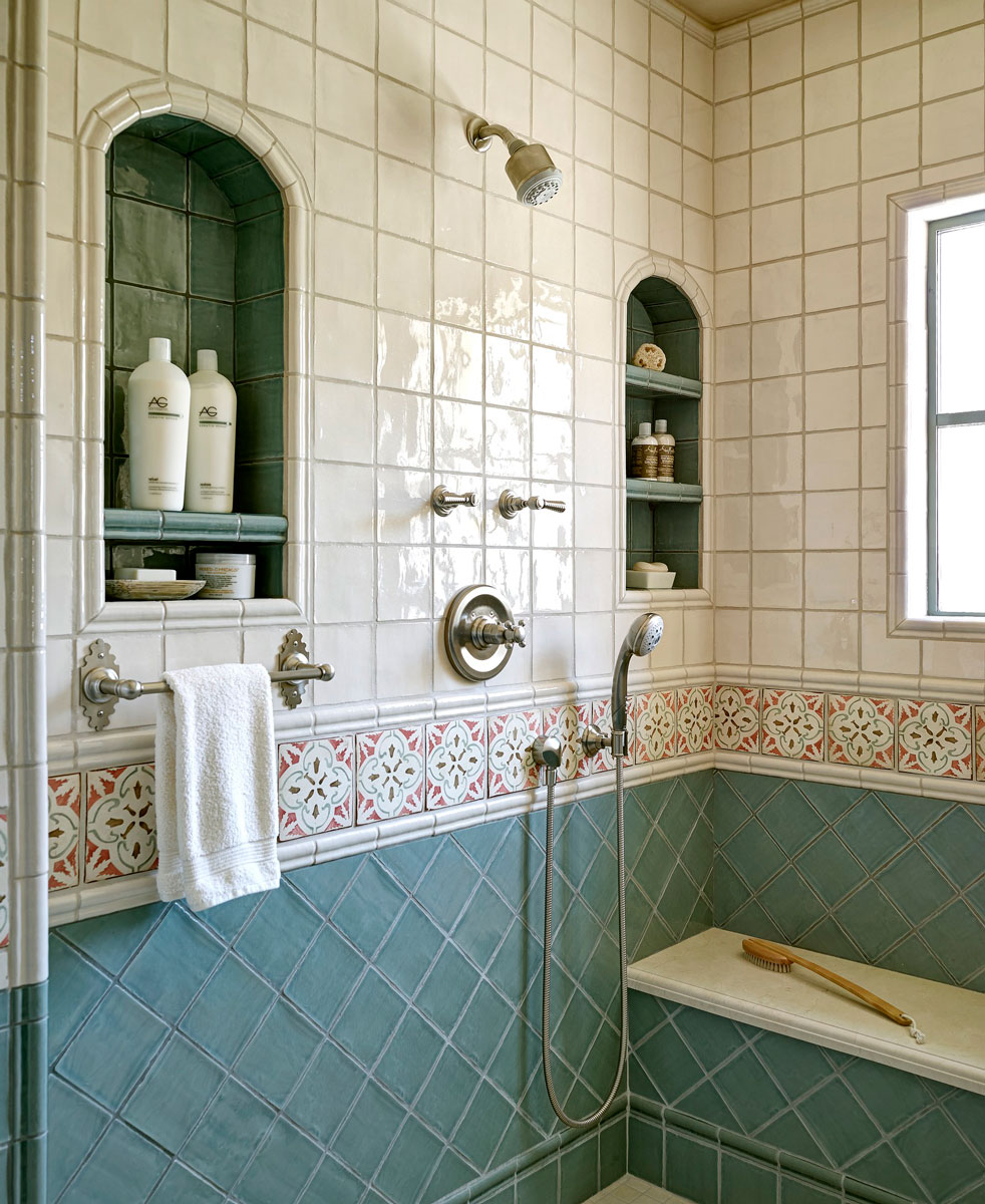 Bravura Tile Designs for Bathrooms | Traditional Home