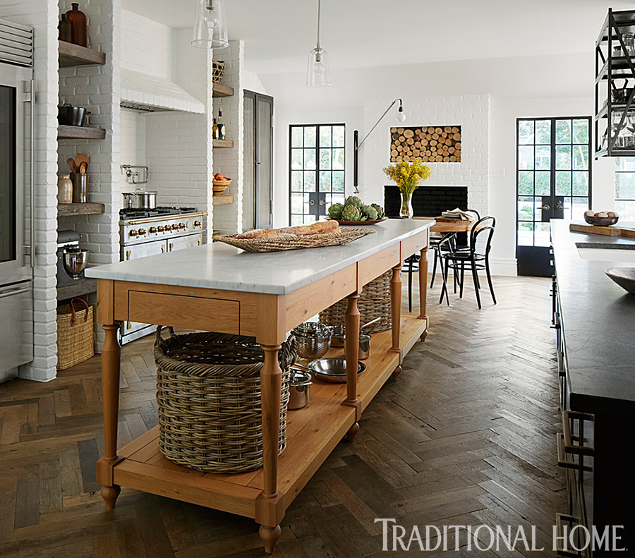 House Interior Design Kitchen: Tudor-Style Home With A Modern Makeover