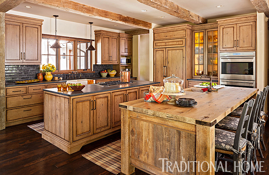 Spacious rustic kitchen traditional home - Images of rustic kitchens ...