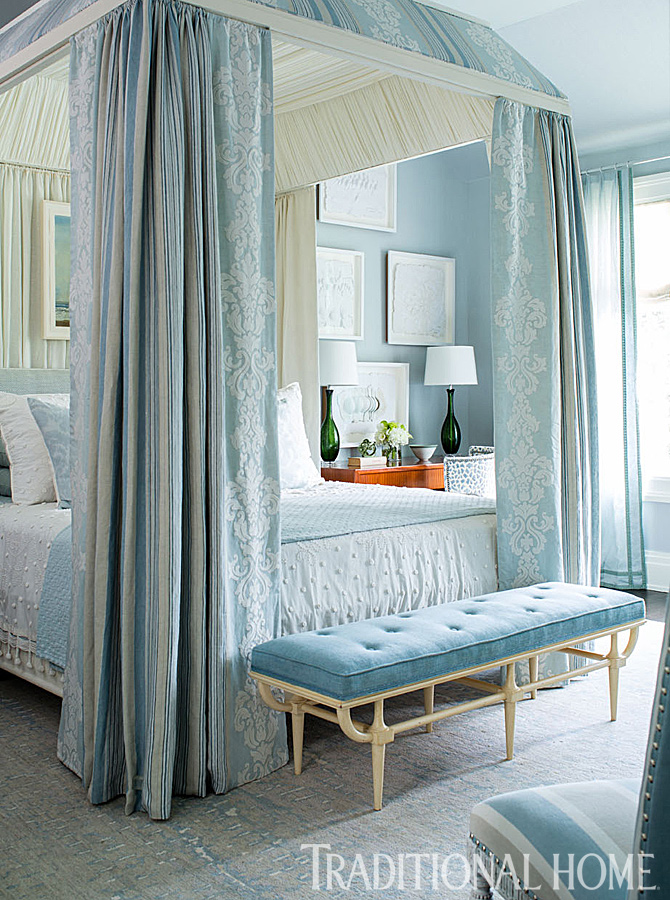 Beautiful Blue Bedrooms Traditional Home Fascinating Blue Bedrooms