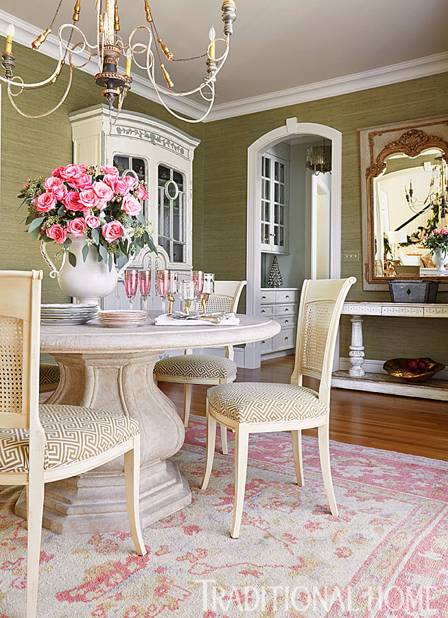 Virginia Home With A Pretty Holiday Palette Traditional Home