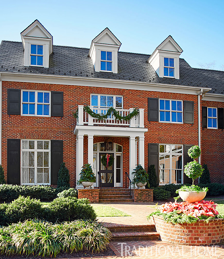 Virginia home with a pretty holiday palette traditional home for Traditional house style