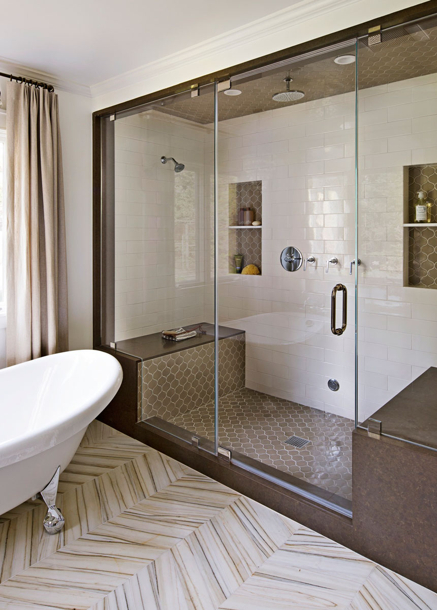 Mind-Blowing Master-Bath Showers | Traditional Home on bathroom shower prints, master bathroom flooring ideas, white bathroom flooring ideas, bathroom shower tile, bathroom shower shelves, bathroom shower inspiration, bath flooring ideas, kitchen flooring ideas, bathroom shower patterns, bathroom backsplashes ideas, bathroom shower paint, bathroom shower art, bathroom shower display, contemporary bathroom flooring ideas, dining room flooring ideas, bathroom faucet ideas, decorating flooring ideas, bathroom shower accessories, bathroom shower carpet, bathroom shower chairs,