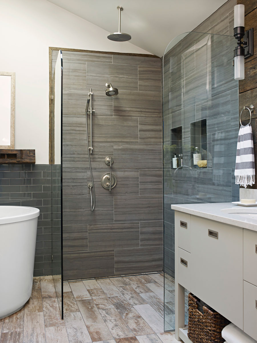Mind-Blowing Master-Bath Showers   Traditional Home