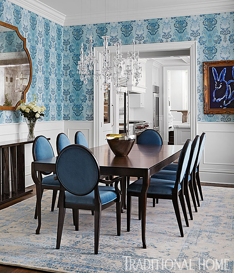 Traditional Home Dining Rooms.  ENLARGE Werner Straube Chicago Dining Room Giuliana Rancic s A List Rooms Traditional Home