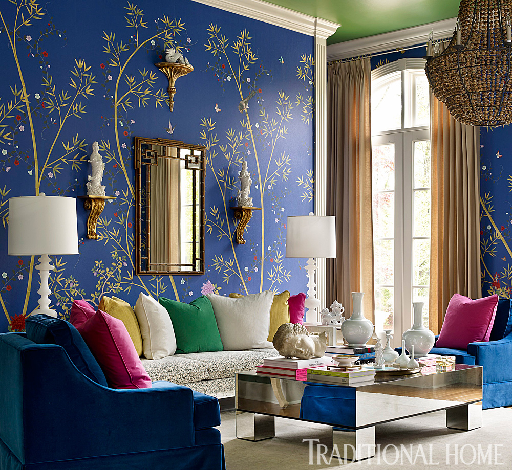 12 rooms dripping in jewel tones traditional home - What are jewel tones ...