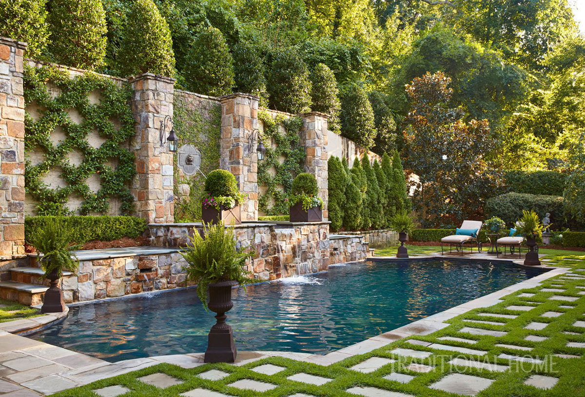 An english garden in alabama traditional home for English garden pool