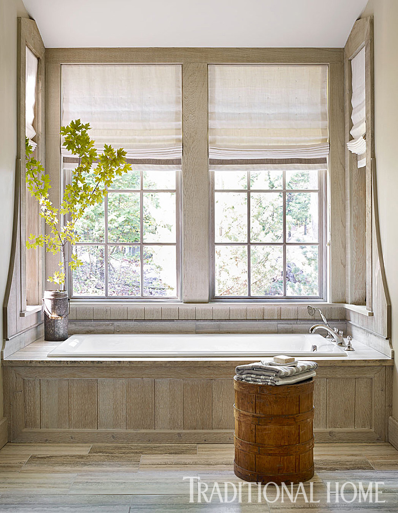 Design ideas for neutral color master bathrooms for Blinds bathroom window
