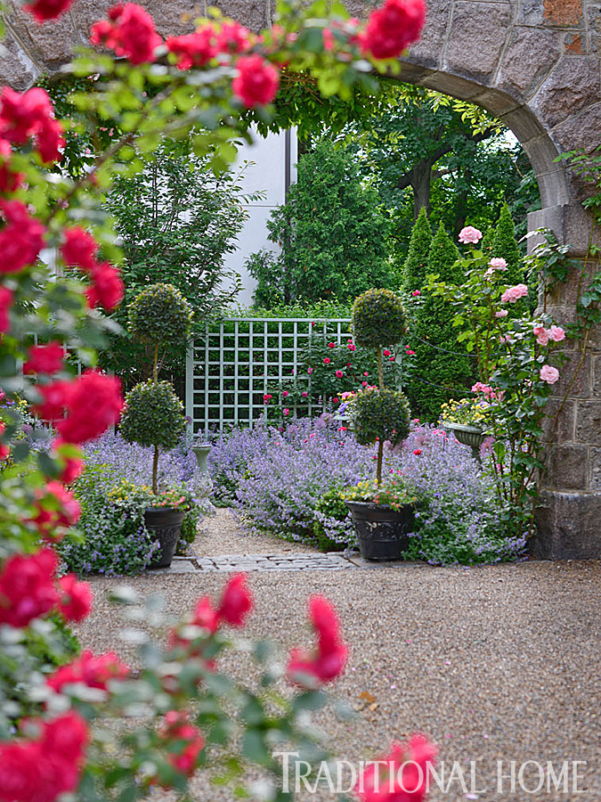 Before and after enchanting english garden traditional home for Garden images