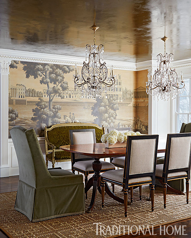 Stylish update for a historic detroit home traditional home for Updating a traditional dining room