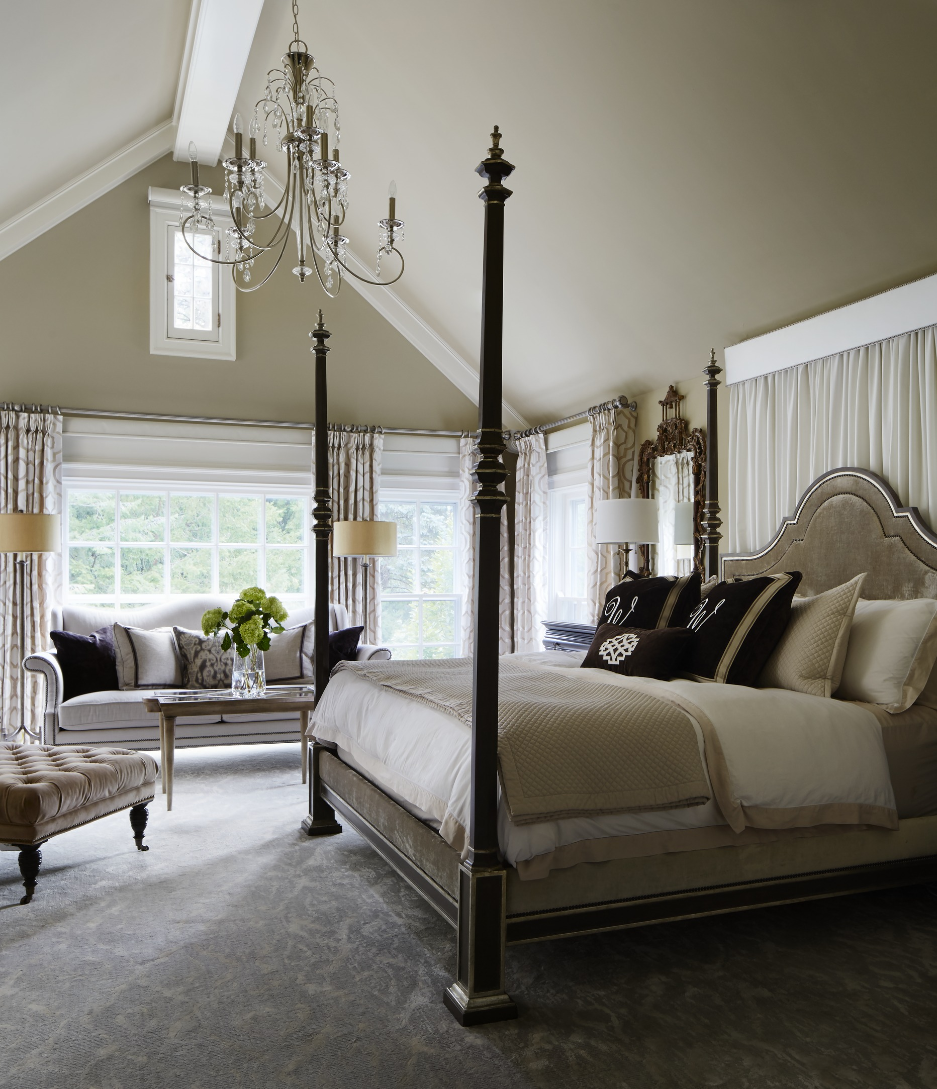 Gorgeous GrayandWhite Bedrooms Traditional Home - Posh bedroom designs