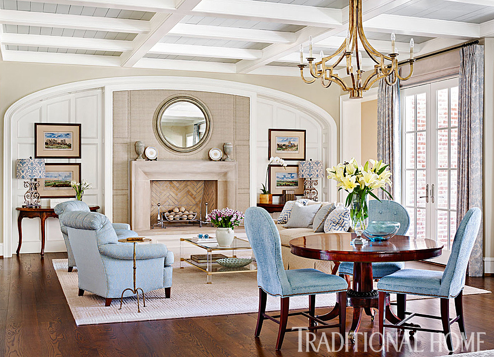 Nashville Home Filled With Harmonious Hues Traditional Home