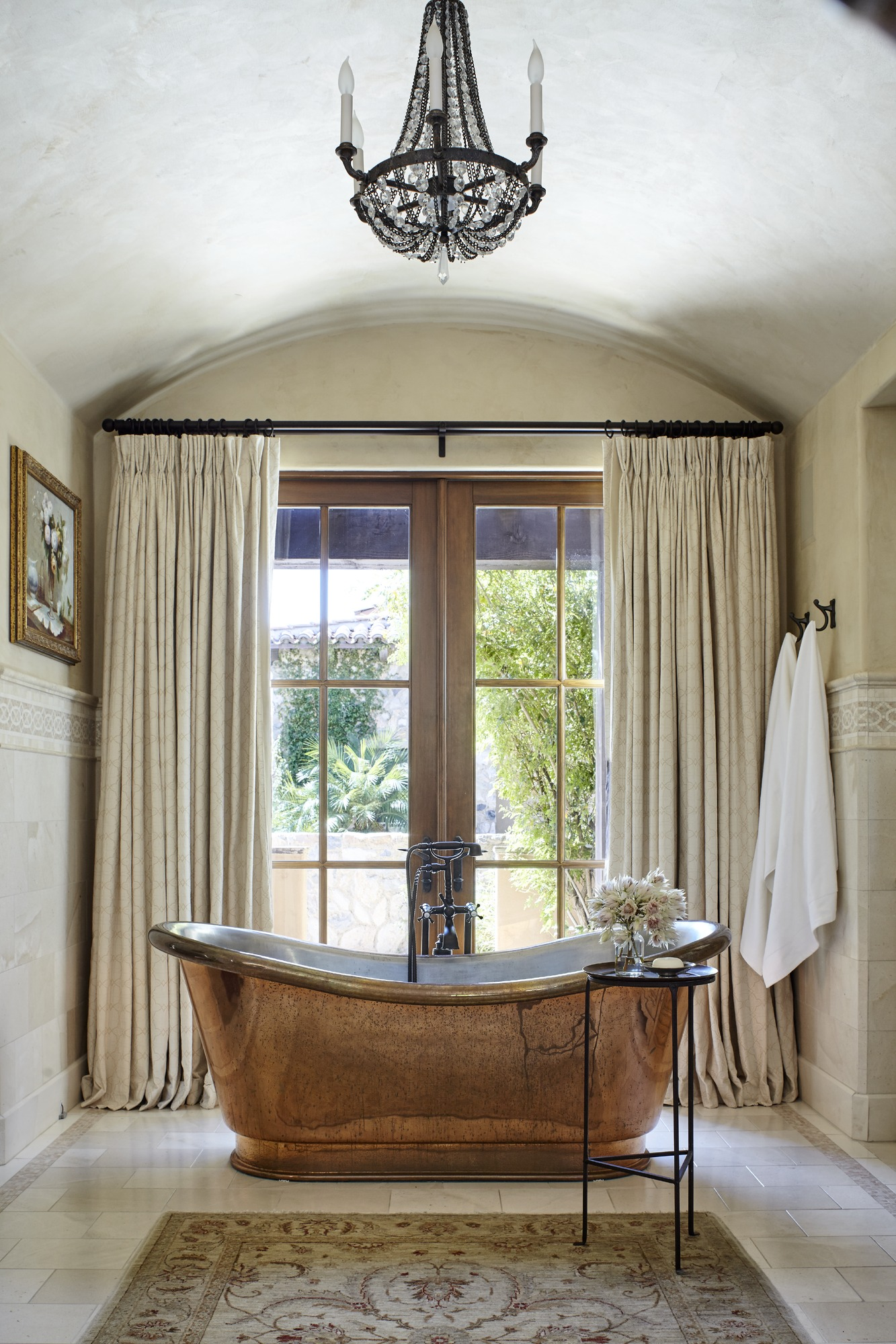 Bathroom Light Fixtures That Wow Traditional Home