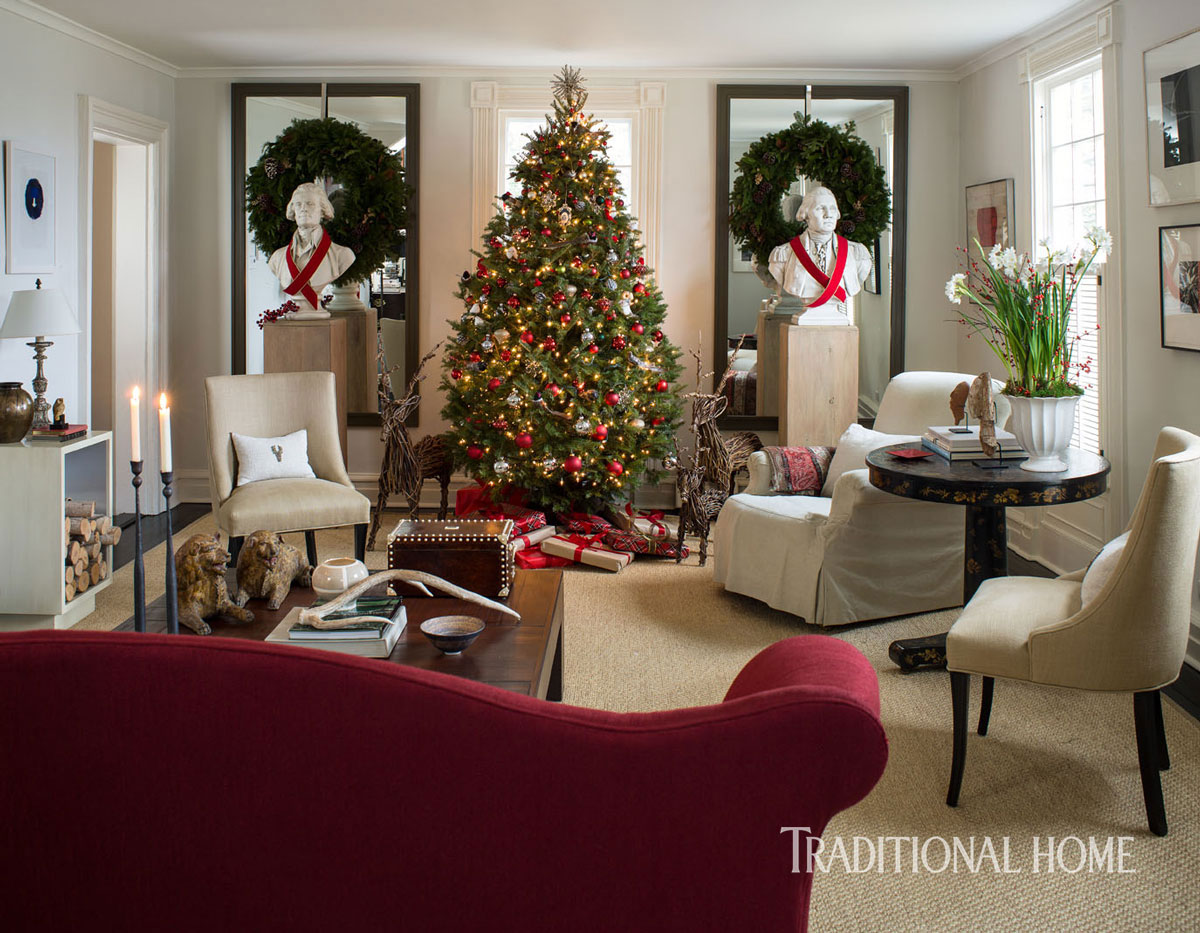 A Designer S Festive Country House Traditional Home