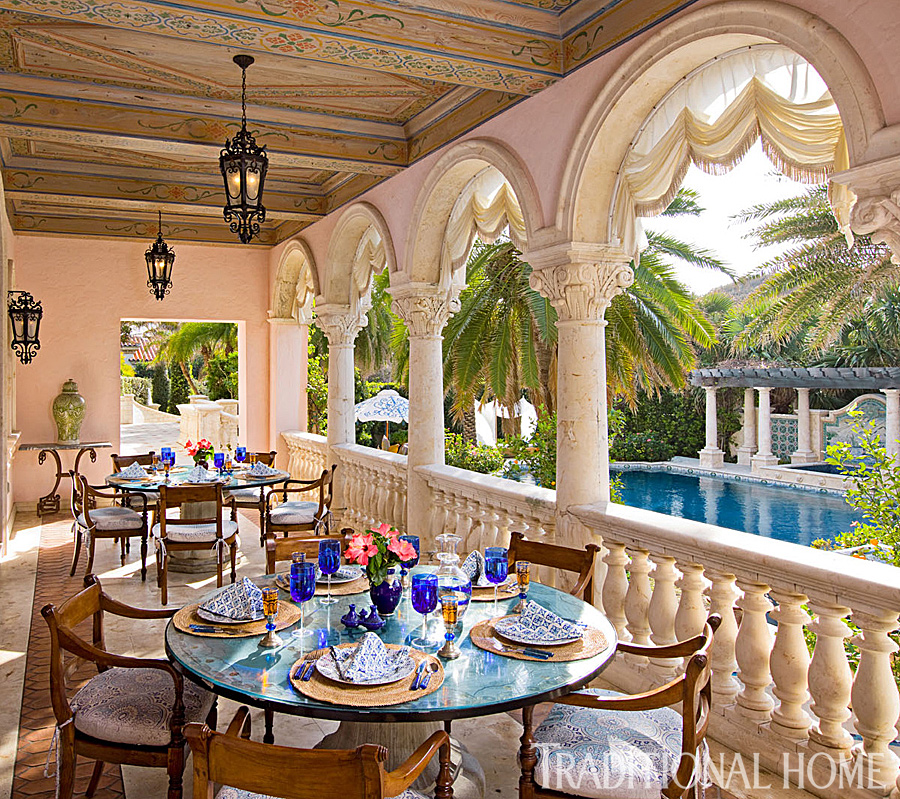 Palm Beach Home With Colorful Lavish Interiors