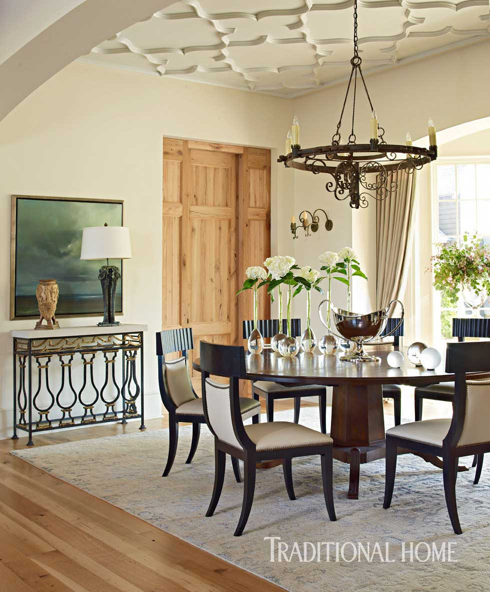 Key Interiors By Shinay English Country Dining Room: Spacious Family Home In Alabama