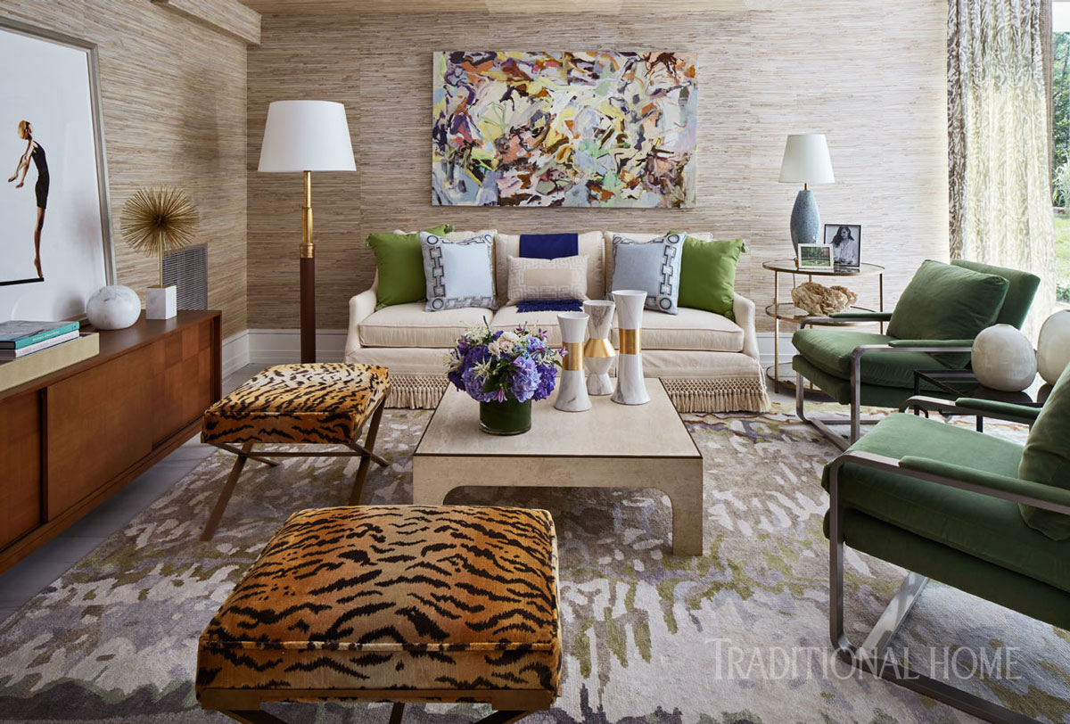 12 rooms dripping in jewel tones traditional home - Jewel tone living room ...