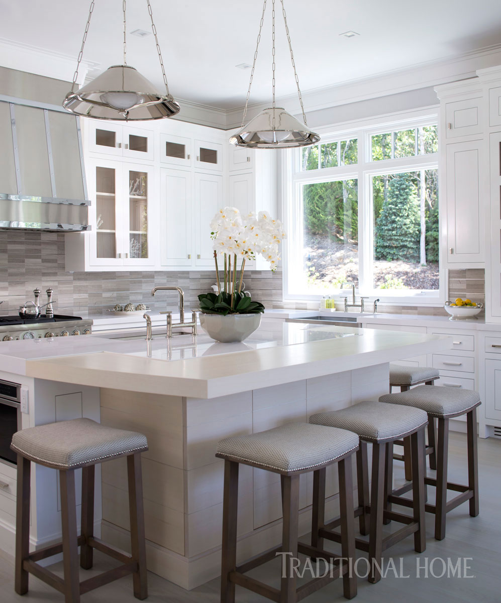 Glimmering Showhouse Kitchen | Traditional Home