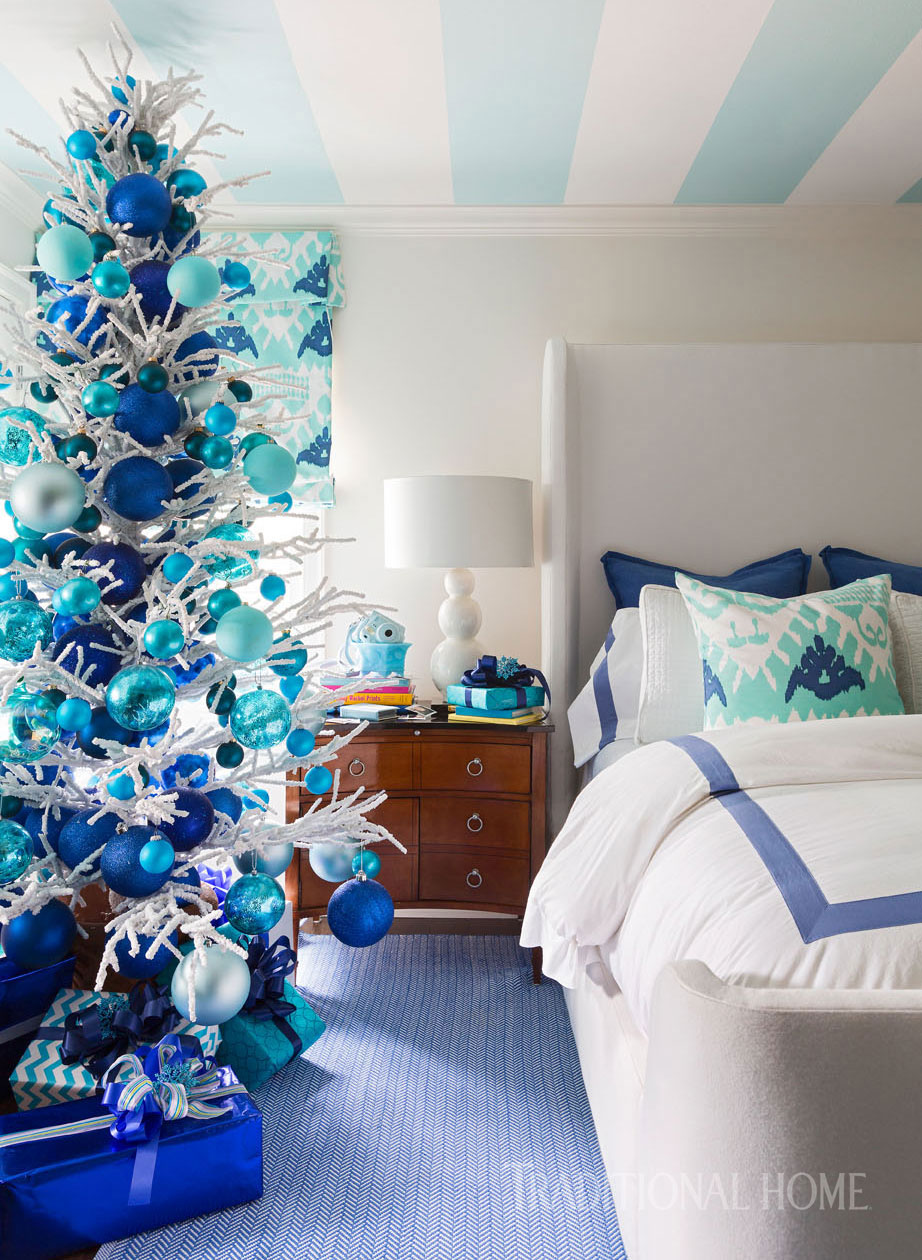 A Designer S Colorful Home Dressed For The Holidays