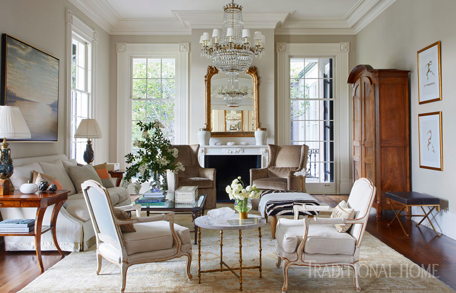 Stylishly southern mississippi home traditional home - House interior design pictures living room ...