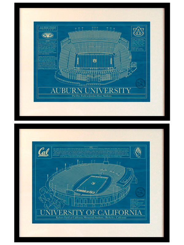 2015 holiday gift guide traditional home college stadium prints starting at 110 from the stadium blueprint company malvernweather Gallery