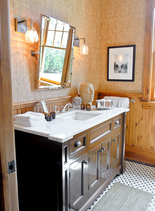 Powder Room Pictures create a smashing powder room | traditional home