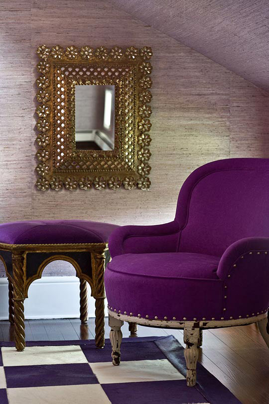 Classic house great color traditional home - Purple chairs for bedroom ...