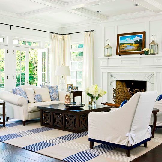 All White And Blue Delight Traditional Home