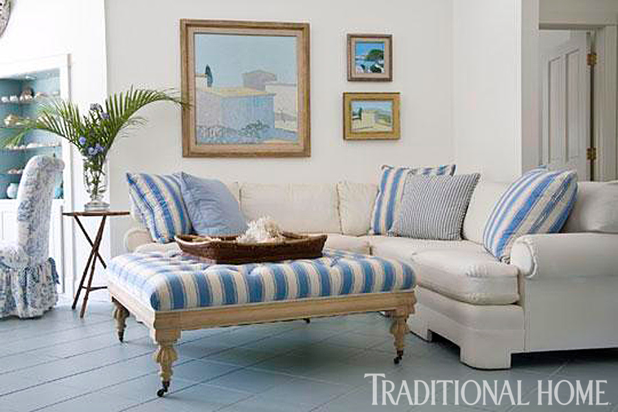 ENLARGE Breezy In Blue Florida Beach Cottage Traditional Home. Beach Home  Interior Design.