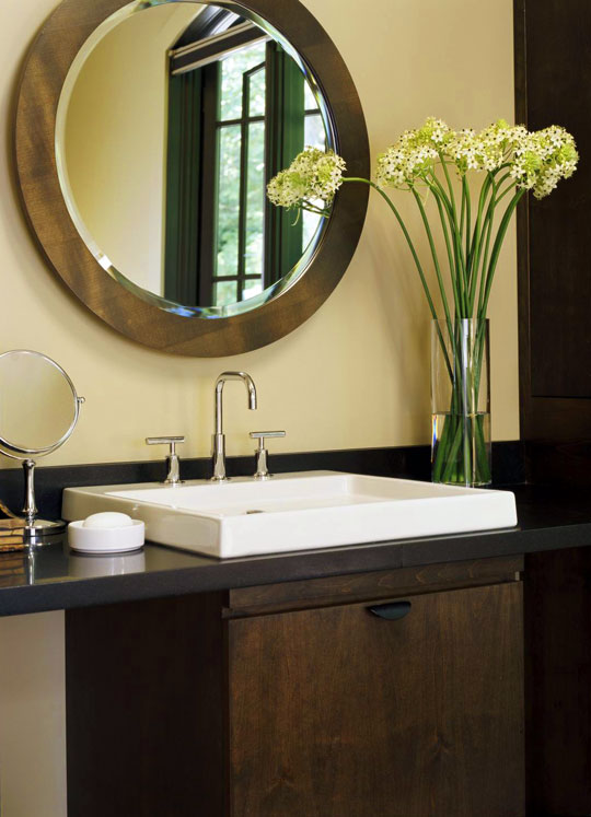 bathroom vanity with sink and mirror.  ENLARGE Decorating Bath Vanities Traditional Home