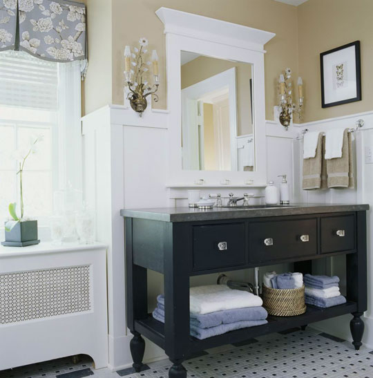 Decorating bath vanities traditional home for Bathroom vanities design ideas