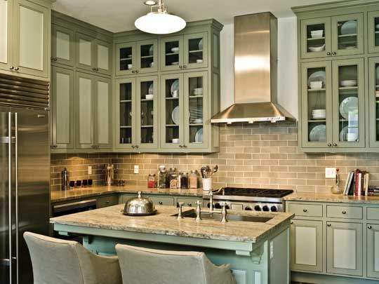 Colorful kitchens with charisma traditional home - Awesome kitchen from stone more cheerful ...