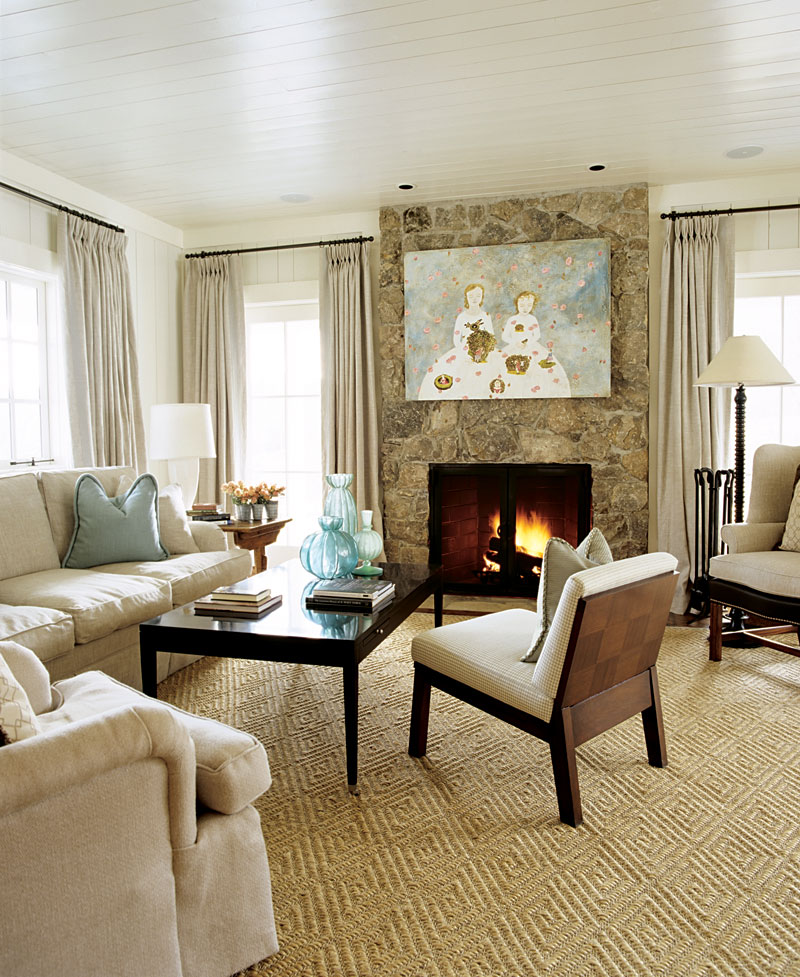 Elegant living rooms in neutral colors traditional home for Small neutral living room ideas