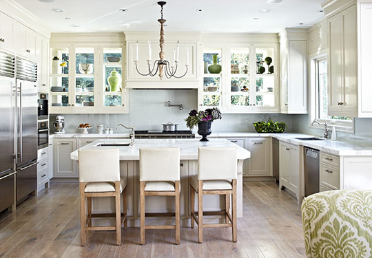 Distinctive Kitchen Cabinets With Glass-Front Doors