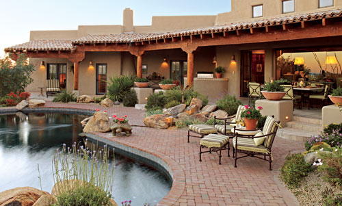 Pueblo-Style Home with Traditional Southwestern Design ...