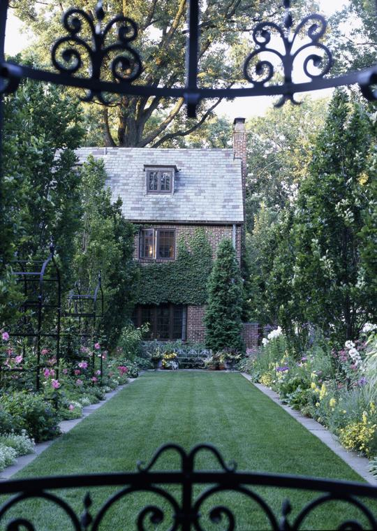 English garden on the prairie traditional home for Prairie style garden design